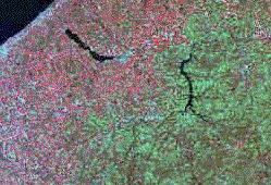 LandSat MSS Image of NW Pennslvania.