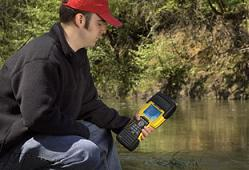 Photo of trimble ultra-rugged handheld computer for natural resources.